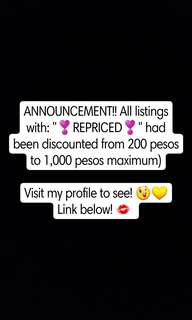 Important announcement!!  (Gadgets, Clothes, Shoes, Perfumes and Watches!!)