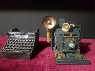 Vintage Ornaments - Typewriter stand and Camera box