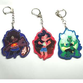 STEVEN UNIVERSE DOUBLE-SIDED ACRYLIC CHARMS