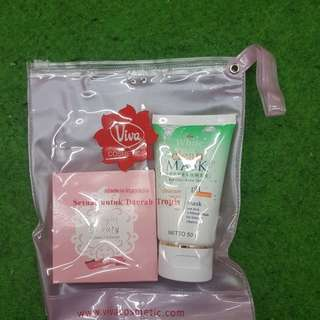 Viva compact powder and cleanser