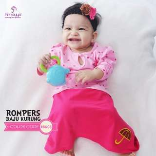 Baby girl kurung rompers