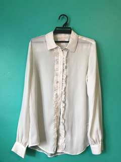 White button up blouse- small