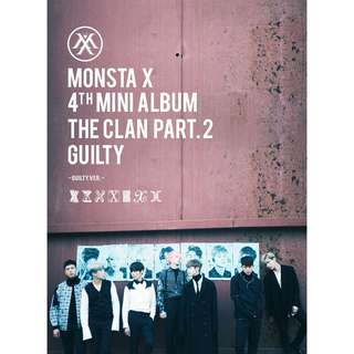 🚚 MONSTA X 4th MINI ALBUM THE CLAN PART.2 GUILTY  -GUILTY VER.-