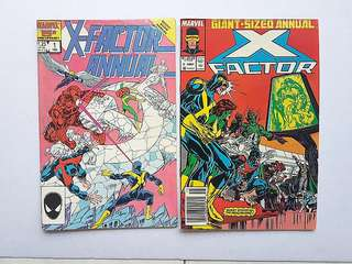 Marvel Comics X-Factor Annual 1 and 2 Very Fine Condition