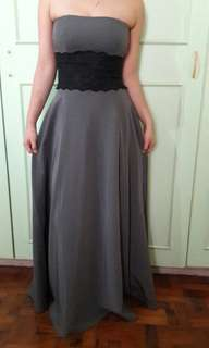 Vittorio for Sari Sari Store Gray Long Evening Gown