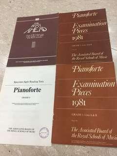 Pianoforte examination pieces grade 1 grade 2 grade 6
