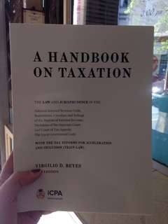 Taxation Textbook 2018 (including train law and other new topics) by Reyes