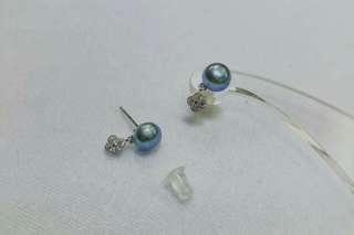 天然珍珠耳環