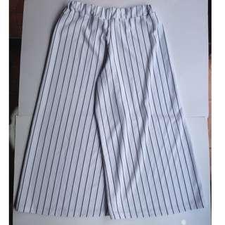 White Striped Square Pants