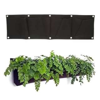 [Ready Stock] 4 Pocket Horizontal Garden Hanging Planter Bag