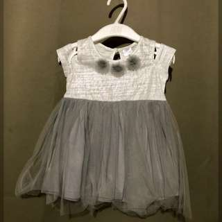 Gray Tutu Dress