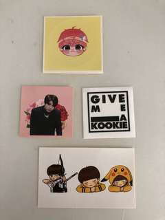BTS JUNGKOOK Sticker set