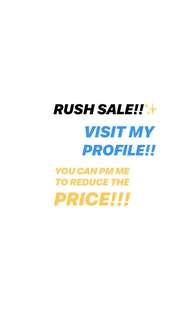 RUSH SALE! RUSH! RUSH!