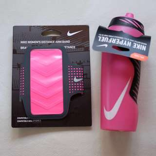 Bundle NIKE Hyperfuel Water Bottle and Distance Arm Band for iPhone 6