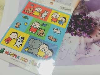 1995年 Sanrio Minna No Tabo 大口仔 貼紙