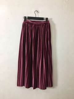 Purple Velvet Skirt from KOREA