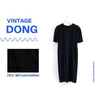 🚚 | 咚 咚 Vintage |日本古著- 冰黑洞外星短袖洋裝