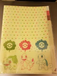 Pokemon 車厘龜 3層file folder A5 size Made in Japan