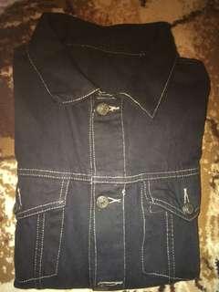 Dijual jacket denim hitam 🔥