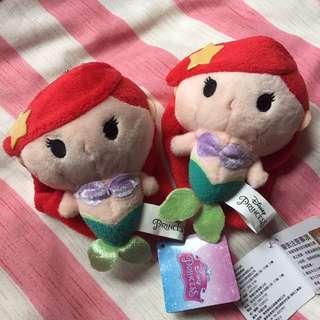 迪士尼 美人魚 小魚仙 公主 公仔 匙扣 台灣代購 現貨 ariel 包郵