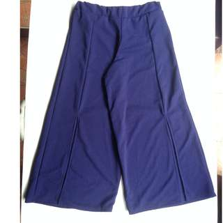 Blue Square Pants with front slit