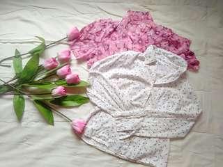 Bundle 16. Floral Polo Shirt // White Polo