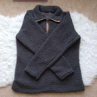 BNWOT Sherpa like Sweatshirt Pullover