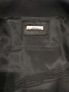 Zipped Leather Jacket Bally Authentic