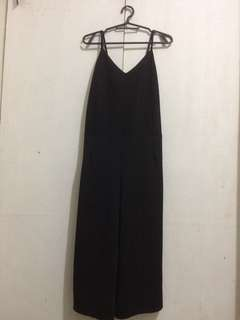 Black Spaghetti Strap Jumpsuit / Bundle for 550 (H&M Crop Top, Black Jumpsuit, GTW Fab Black Floral Dress, Striped Crop Top)
