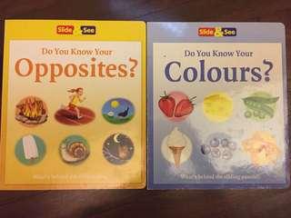 Slide & see (opposites & colours)