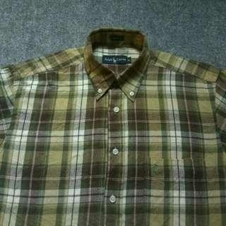 Kemeja RALPH LAUREN Cotton Flannel Shirt Long Sleeve Size L