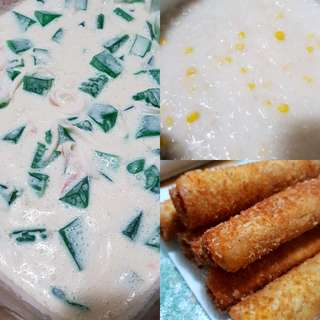 Buko Pandan, Ginataan Mais and Pizza Roll