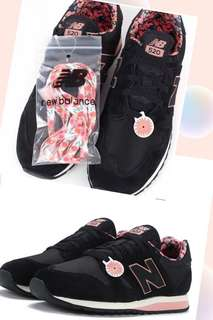 New balance 黑色碎花鞋