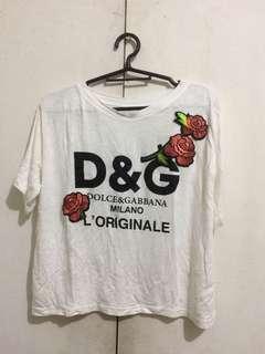 'D&G' Top / BUNDLE FOR 400 (JAG Knit Longsleeves, CANDIES Chiffon Dress, BNY JEANS Lace T-shirt, 'D&G' Top)