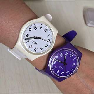 Preloved: 1 x White Swatch Wrist Watch (Purple sold out)