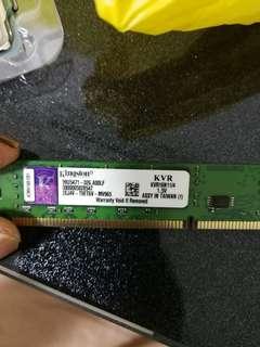 Kingston PC3-12800 4GB 1600MHz DDR3 memory