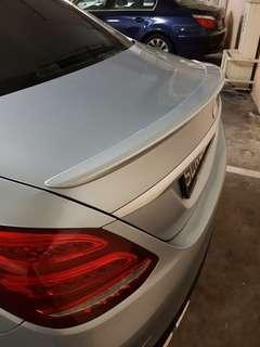 Mercedes C Class W205 painted spoiler, diamond silver colour