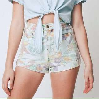 American Apparel High Waisted Vintage Floral Shorts (Size 2)