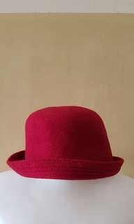 Red Bowler Hat.