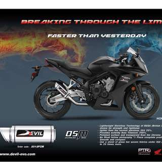 Devil Exhaust Systems Singapore Honda CBR650F 2018 Euro 4 ! Ready Stock ! Promo ! Do Not PM ! Kindly Call Us ! Kindly Follow Us !  Kindly Join Us As Members To Enjoy More Goodies !