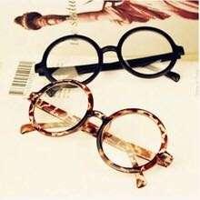 小清新 阿拉蕾 文青 塑膠 大圓形 圓型 圓框 無鏡片眼鏡 大人款
