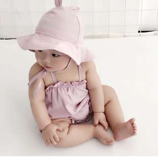 Baby Infant Girl One piece Romper Jumper Overall Hat