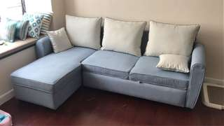 Sofa L Shape with pullout extension