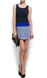 NWOT Mango Suit Blue Dress