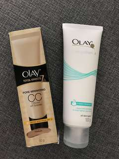 Olay Total Effects CC Cream Medium 50g + White Radiance Cream Cleanser 100g