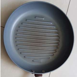 "Gourmet Healthy Ceramic Non-Stick Hard Anodized 15"" / 39cm Grill Fry pan"