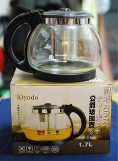 🚚 1.7公升公爵玻璃泡茶壺