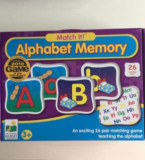 2sets Alphabet learning card