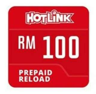 Hotlink RM100 instant reload top up 🔥Pay RM93 ONLY to top up RM100🔥
