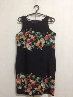 GTW Fab Black Floral Dress / Bundle for 550 (H&M Crop Top, Black Jumpsuit, GTW Fab Black Floral Dress, Striped Crop Top)